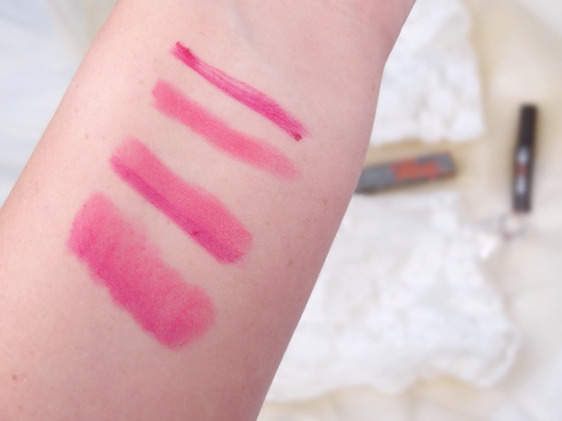 Swatches of Pink Thrills Benefit Double the Lip Lipliner and Lipstick in one
