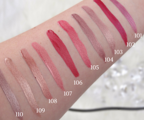 INGLOT Diamond Lip Tint Swatches