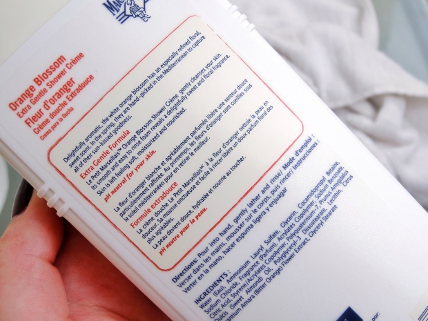 Le Petit Marseiliais Shower Creme Blog Review Ingredients