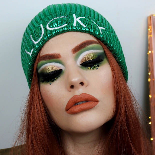 St Patricks Day Glam Makeup